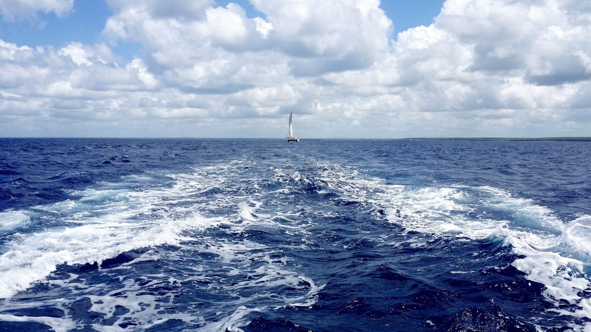 Katamaran Fahrt nach Saona (Karibik)