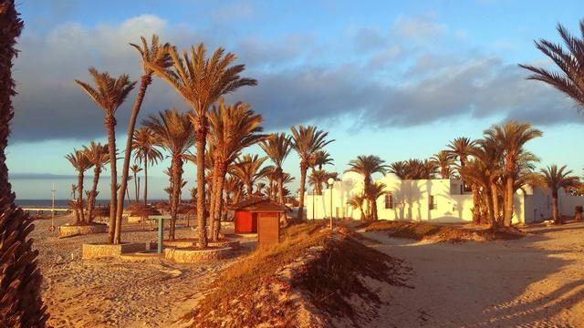 El Mouradi Djerba Menzel in der Morgensonne